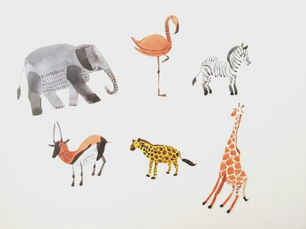 safari muurstickers